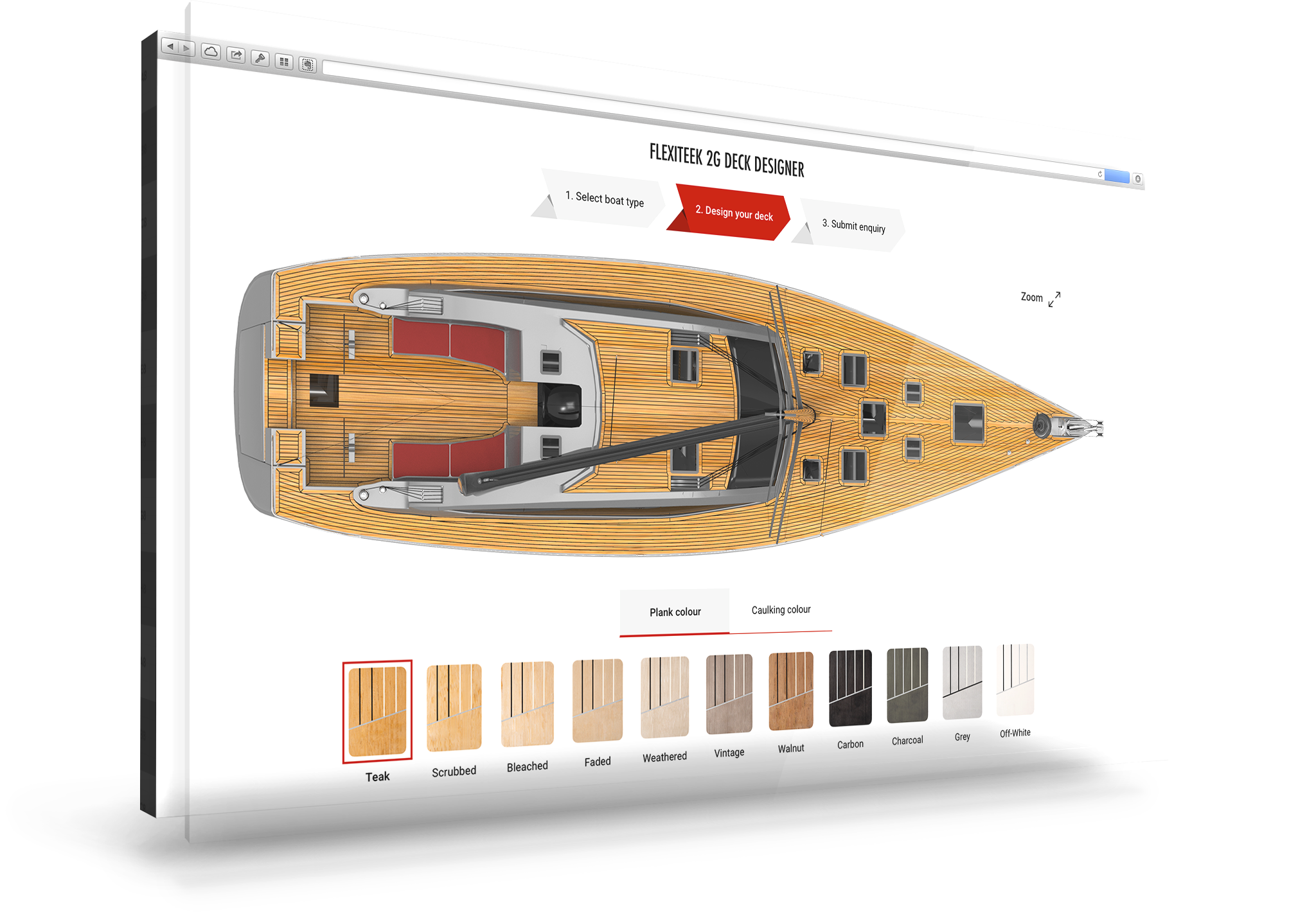 Design your dream Sailing Boat Deck